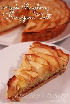 Apple Raspberry Frangipane Tart is a classic dessert that is classy and elegant. Almond paste filling in a delicate cookie tart shell with sliced apples Frangipane Tart, Cheesecake Tarts, Almond Paste, Tart Shells, Classic Desserts, Apple Slices, Hot Dog Buns, Pop Tarts, Delicious Desserts