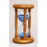 Natural finish and blue sand 5 minute hourglass that can be personalized. Shipping fast and free! Hourglass Sand Timer, Sand Timers, Snow Globes, Antiques, Natural, Classic, Sands, Blue, Clocks