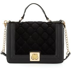 Betsey Johnson Tuft Love Quilted Velvet Shoulder Bag ($56) ❤ liked on Polyvore featuring bags, handbags, shoulder bags, black velv, zipper handbag, quilted shoulder bag, shoulder handbags, top handle handbags and velvet purse