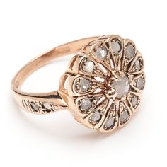 Aster Ring - Rose Cut Diamond – Arik Kastan Rose Gold