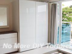 67 Ideas Glass Door Wardrobe Design For 2019 Sliding Door Curtains, Sliding Wardrobe Doors, Sliding Patio Doors, Sliding Glass Door, Ikea Wardrobe, Wardrobe Storage, Wardrobe Interior Design, Modular Wardrobes, Ikea Pax