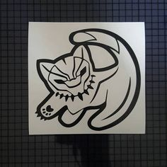 Black Panther Simba Decal - Outline Available in 16 Colors & Multiple Sizes