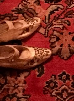 Vintage beaded silk slippers on an oriental rug in Craigdarroch Castle. Nelly Furtado, After High School, Regrets, Oriental Rug, Time Travel, Travel Photos, Castle, Slippers, Victoria