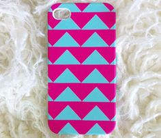 Hot Pink & Aqua iPhone Case