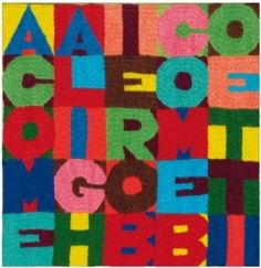 "Another good result at auction: 26,000 € for a small arazzo tapestry by #alighierobioetti. ""A come Alighiero B come Boetti"" (A for Alighiero, B for Boetti), a nice and colourful embroidery 22 x 21 cm,..."