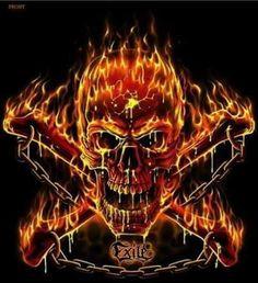Fire skull!