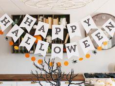 Printable Happy Halloween Banner