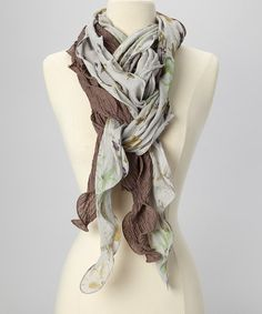Take a look at this Clay & Gray Floral Waffle Scarf on zulily today!
