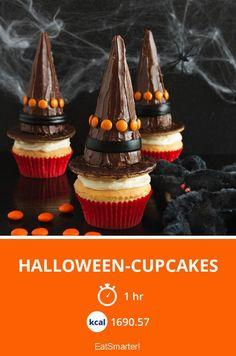 Halloween-Cupcakes - smarter - Kalorien: 1690.57 Kcal - Zeit: 1 Std.   eatsmarter.de Halloween Cupcakes, Halloween Diy, Happy Halloween, A Little Party, Eat Smarter, Culinary Arts, Cake Pops, Muffins, Baking