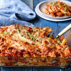 Vegetarmat: Her er 6 tips til gode vegetariske koseretter - KK Woman Wine, Tasting Table, Penne, Pasta, Recipe Of The Day, Good Mood, Cheddar, Lasagna, Easy Meals