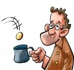 The poor man. A beggar getting some coin in his mug , Rich Man Poor Man, Christian Stories, Satirical Illustrations, Wedding Clip, Homeless Man, What Is It Called, Cartoon Images, Graphic Illustration, Christmas Fun