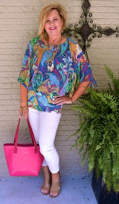 50 IS NOT OLD   HOW TO WEAR A COLORFUL TOP
