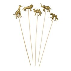 Gold Party Animals drink stirrers - Safari or jungle themed party Safari Party, Safari Jungle, Jungle Party, Circus Party, Party Props, Party Hats, Party Themes, Party Ideas, Lion Party