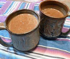 Happy Hormone Tonic (almond milk-dandy blend-maca-ashwaganda-triphala-dates-cayenne-reishi powder-shilajit)