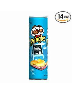 Pringles Potato Crisps Super Stack, Salt & Vinegar, 6.38-Ounce Tubes (Pack of 14): Amazon.com: Grocery & Gourmet Food