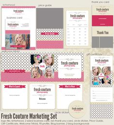 Fresh Couture Marketing set. Love the mix of trendy prints & banners :)