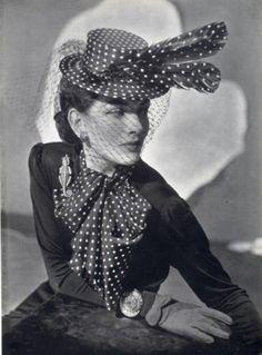 Photo by André Durst, 1940    Madame Agnès (Millinery) - Bonin Jewels