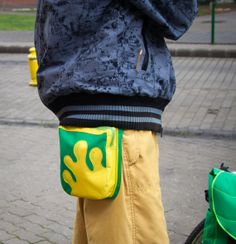 Green  Yellow Splash Fanny Pack Hip Bag Pocket belt by LeaflingoOo, $39.00 AWESOME LOOK!