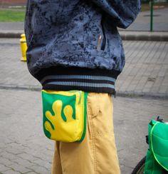 Green  Yellow Splash Fanny Pack Hip Bag Pocket belt by LeaflingoOo, $39.00 AWESOME LOOK!