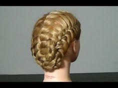 Прическа на средние волосы с плетением. Braided hairstyle tutorial - YouTube
