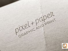 Pixel  Paper // Unique Logotype graphic design by GraphicOverdrive, $89.95
