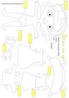 tempo libero: english learning with a paper-doll...girl version!