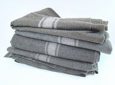 If we have a boy someday, I love the look of a vintage wool military blanket for his bedding.