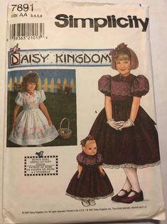Daisy Kingdom Dress Pattern 3-6 Simplicity 4899 OOP