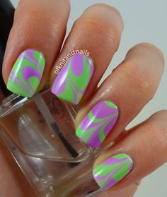 Gorgeous purple and lime combo! Funky Nail Art, Funky Nails, Cute Nails, Pretty Nails, My Nails, Acrylic Nail Designs, Nail Art Designs, Acrylic Nails, Nail Color Combos