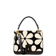 Orla Kiely 2014, Snowdrop Printed Patent Leather Ivy Bag Marble