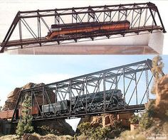 Buildings Tunnels and Bridges 120273: Micron Art 10812 Z Scale Long Photo-Etched Pratt Truss Bridge Kits (2) -> BUY IT NOW ONLY: $252.99 on eBay!