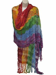 Florafil Wildflower Shawl Kit at Dream Weaver Yarns LLC
