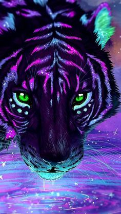 Colorful Tiger Art iPhone Wallpaper - iPhone Wallpapers