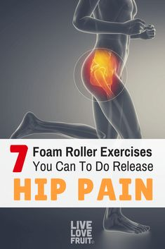 Your hip muscles shorten by sitting all day. Your hip muscles shorten by sitting all day. Here are 7 foam roller exercises you can do to stretch them out and release hip pain. via Live Love Fruit Hip Flexor Exercises, Back Pain Exercises, Hip Bursitis Exercises, Hip Stretching Exercises, Fascia Stretching, Flexibility Stretches, Scoliosis Exercises, Best Exercise For Hips, Tips