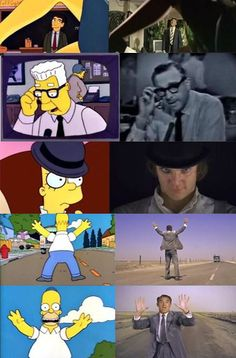 Simpsons and movies.