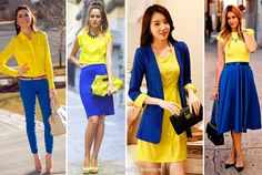Сочетание цветов в одежде синий Simple Work Outfits, Casual Summer Outfits For Women, Warm Outfits, Fall Fashion Outfits, Colour Combinations Fashion, Color Combinations For Clothes, Color Blocking Outfits, Purple Fashion, Colorful Fashion