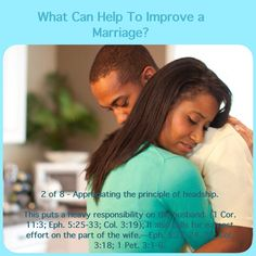 2 of 8 - Appreciating the principle of headship. ✾ ✽ ✾ The bible comes from God, the originator of marriage, tells us what we need to have happy & loving family life. Please go to JW.org & you will find the bible & study aids that will help you as an individual, as a couple & as a family.
