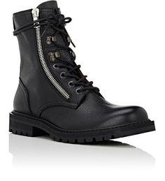 Dries Van Noten Zip-Detail Leather Boots   Barneys New York