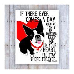 Boston Terrier Memorial Print Boston Terrier Art by Boston Terrier Costume, Boston Terrier Art, Terrier Breeds, Terrier Puppies, Boston Terrier Temperament, Christmas Artwork, Wonder Quotes, Cat Memorial, Romantic Quotes