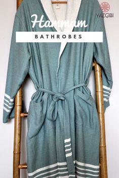 8ceb2700ff2 This comfortable soft hamam bathrobe with kimono collar is made of hamam  towel fabric. Finely