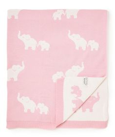 Love this My Baby Boutique 30'' x 35'' Pink Elephant Jacquard Receiving/Stroller Blanket by My Baby Boutique on #zulily! #zulilyfinds