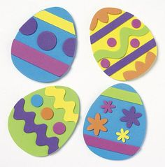 Easter Craft - Egg Art - do it with craft foam and make it into magnets