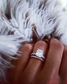 This platinum engagement ring is definitely a yes! @platinumjewelry #fineweddingrings #princesscutring