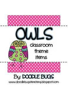 Owl Classroom Theme Ideas - Bing Images