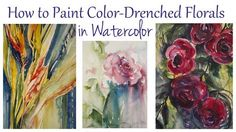 Angela Fehr Watercolor Classes | How to Paint Color-Drenched Flowers in Watercolor