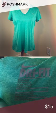 Nike Dri Fit Shirt Green Nike Dri Fit Shirt Nike Tops