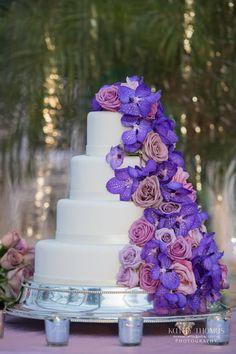 Flower Cascading Wedding cake