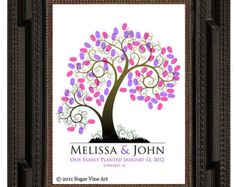 WEDDING THUMBPRINT GUESTBOOK wedding guest book от SugarVineArt