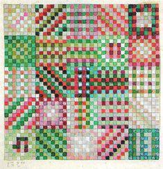 Design for a knotted carpet, 1923-1924 | Gunta Stölzl (1897-1983) | Bauhaus Weimar 1919-1925 | Private collection