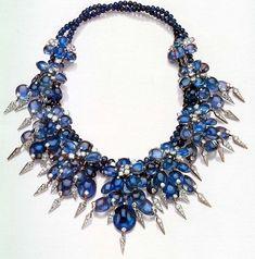 duchess of windsor sapphire necklace 1940 cartier - Google Search